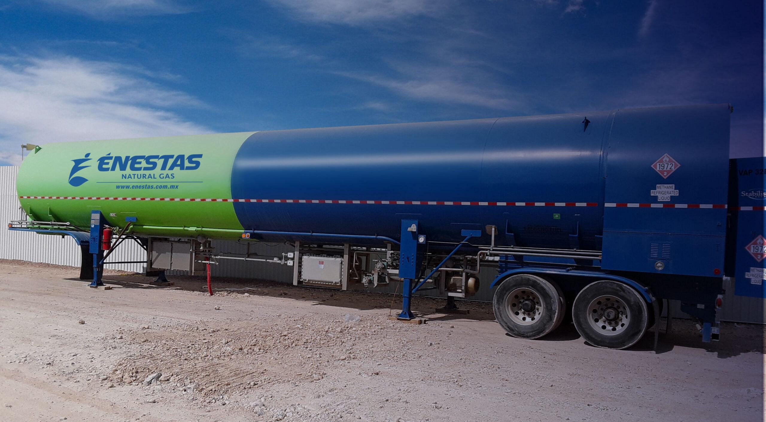 Tanque Enestas Suministro de Gas Natural Licuado 24/7